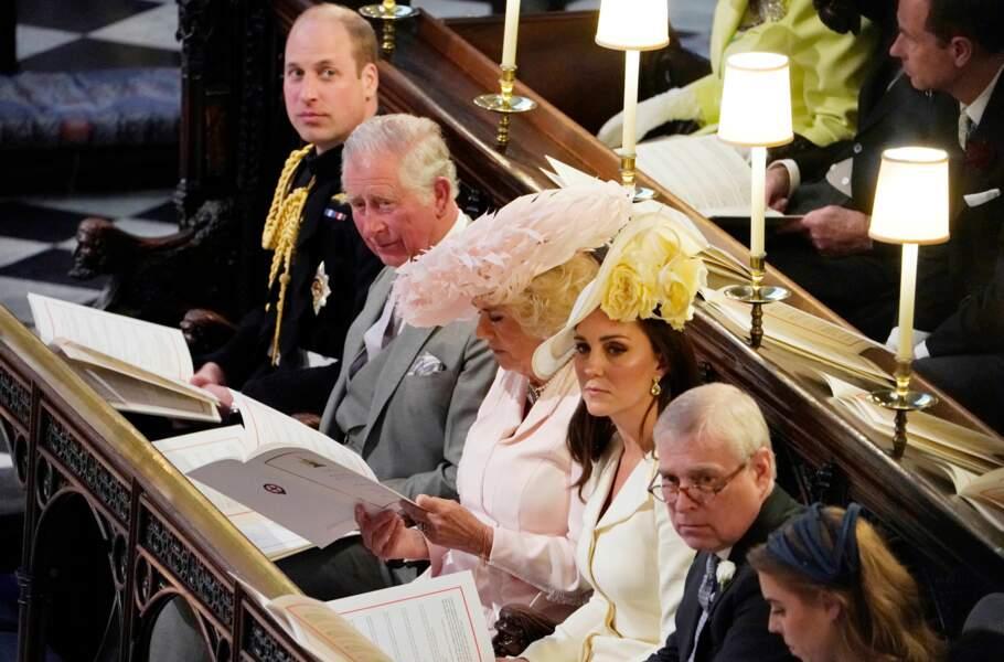 De gauche à droite : le prince William, le prince Charles, Camilla Parker Bowles et Kate Middleton