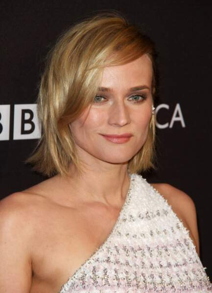 Le carré court blond de Diane Kruger.