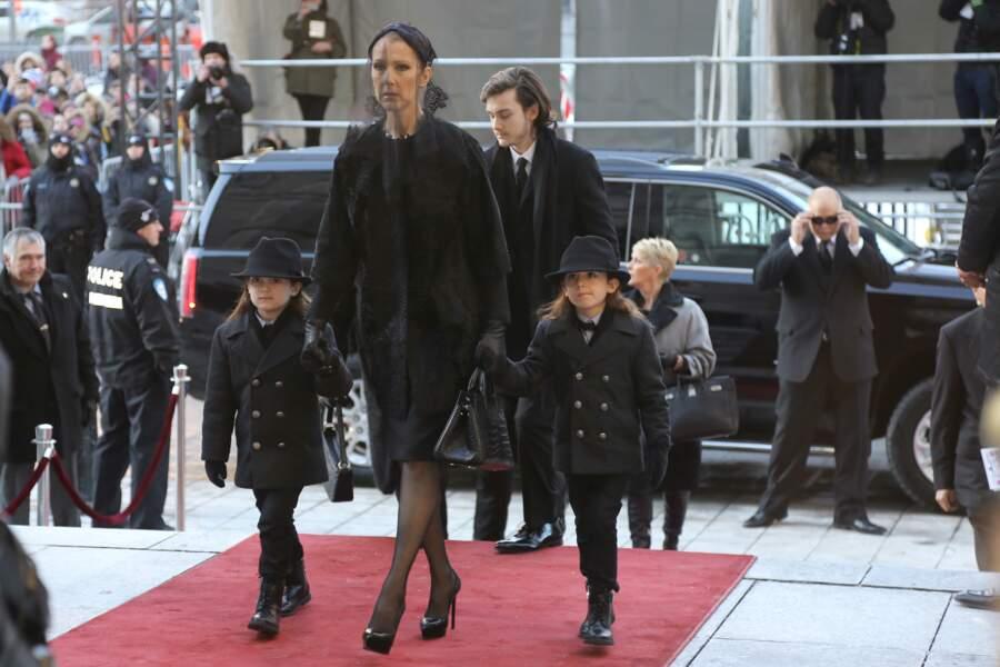Céline Dion et ses fils
