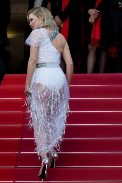 La sublime Léa Seydoux version verso pour une vision qui aura marqué le festival de Cannes 2018.