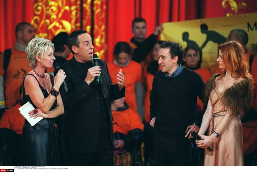 Avec Thierry Ardisson, Elie Semoun et Axelle Red