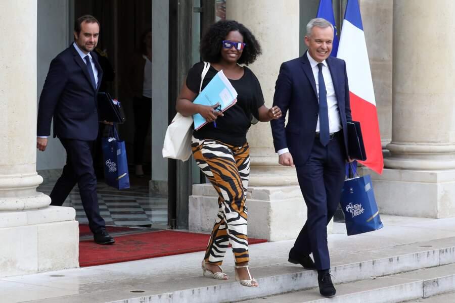 Sibeth Ndiaye et François de Rugy sont apparus tout sourire à la sortie du conseil des ministres