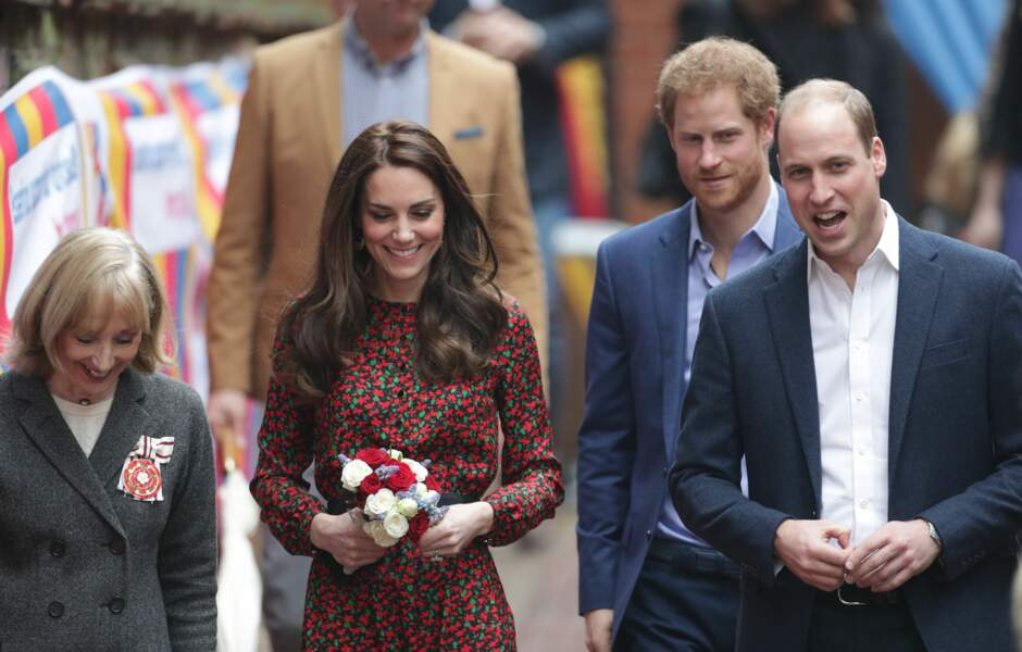 Kate, Harry et William à Londres