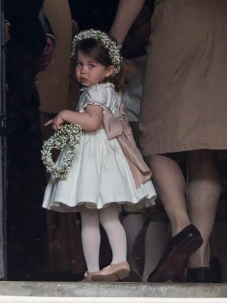 La princesse Charlotte de Cambridge au mariage de Pippa Middleton le 20 mai 2017 à Englefield