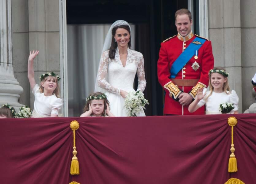 Grace Van Cutsem au premier plan, lors du mariage de Kate et William le 29 avril 2011