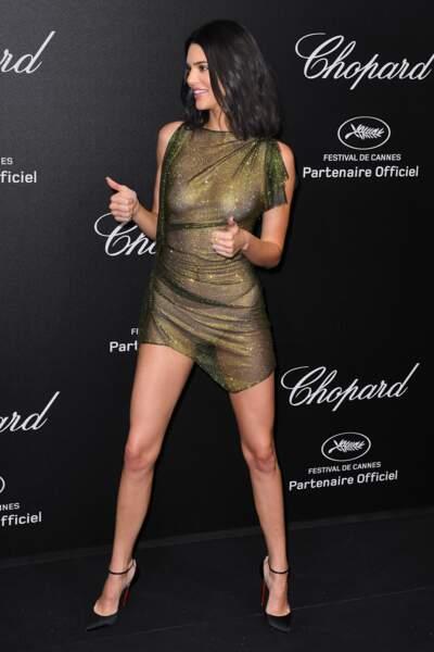 Kendall Jenner a l'air ravie d'être là