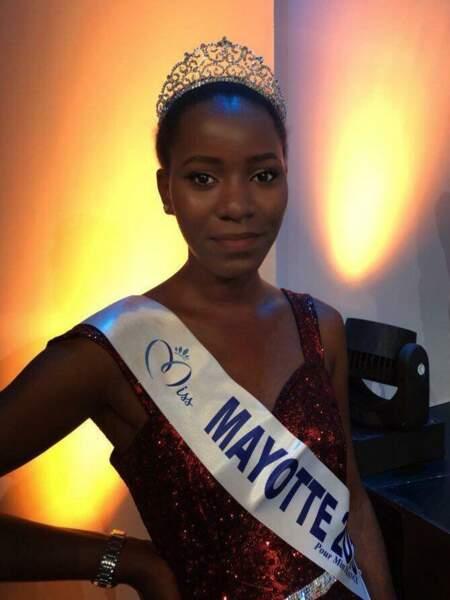 Ousna Attoumani, 20 ans, a été sacrée Miss Mayotte et tentera de devenir Miss France 2019