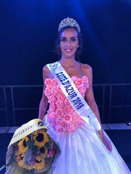 Caroline Perengo, 22 ans, a été sacrée Miss Côte d'Azur et tentera de devenir Miss France 2019