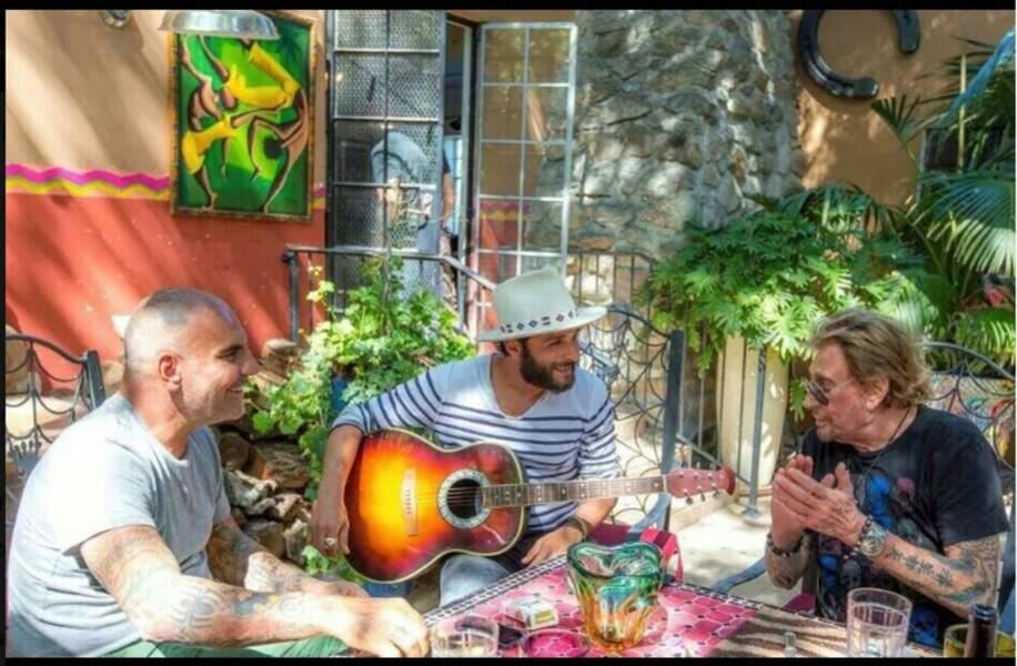 Avec Christian Audigier et Maxime Nucci. Juin 2014