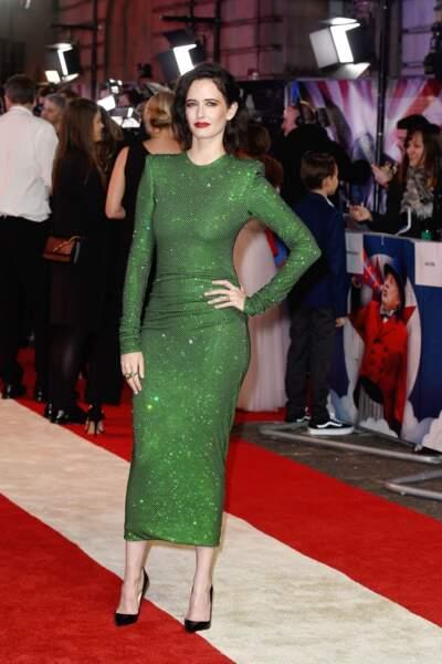 """Eva Green sublime à la première de """"Dumbo"""" au cinéma Curzon Mayfair à Londres, le 21 mars 2019."""