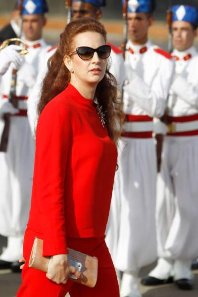 La princesse Lalla Salma du Maroc à l'aéroport de Rabat, le 15 juillet 2014
