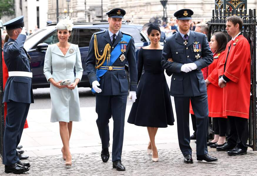 Centenaire de la Royal Air Force : Kate Middleton, le prince William, Meghan Markle, le prince Harry