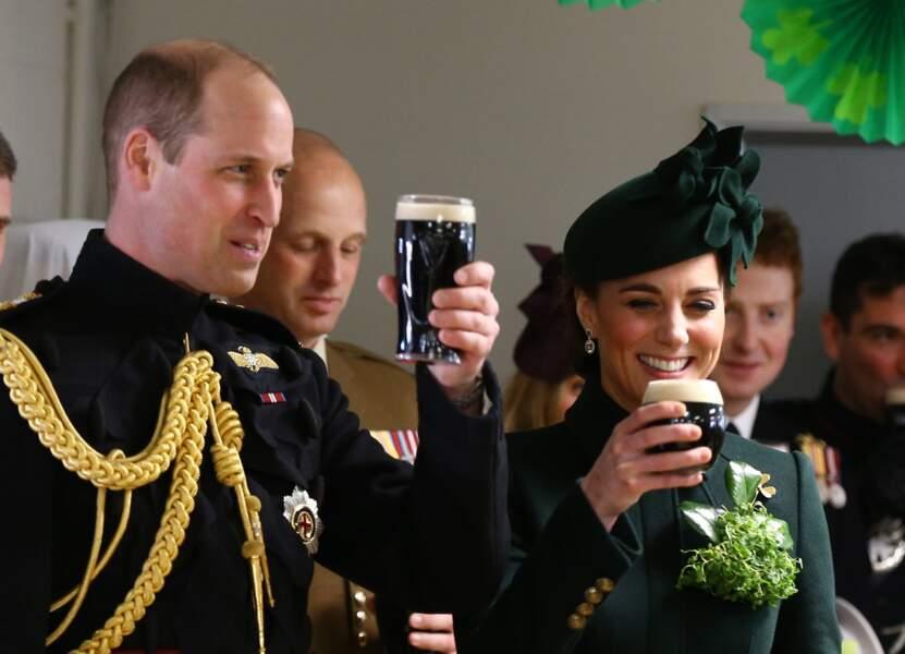 Pour la St Patrick, Kate Middleton et le prince Willaim ont trinqué à la Guinness !