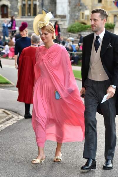 Le mannequin Pixie Geldof a osé le total look roseau mariage d'Eugénie d'York