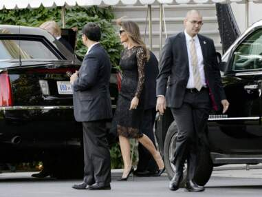 Melania Trump fait monter la température en robe noire en dentelle transparente