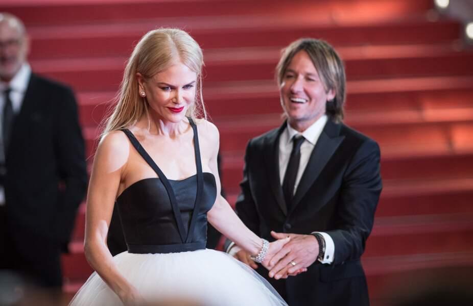 Nicole Kidman et Keith Urban sur le tapis rouge du Festival de Cannes, en 2017