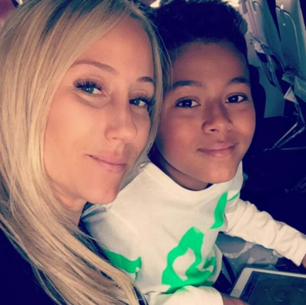 Sandra Evra et son fils
