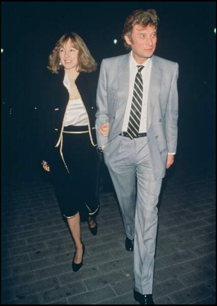 Johnny Hallyday et Nathalie Baye, deux amoureux fringants en 1984