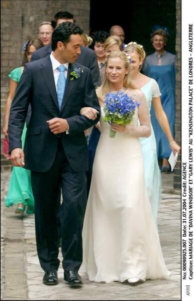 Mariage de Lady Davina Windsor et Gary Lewis au palais de Kensington à Londres le 31 juillet 2004
