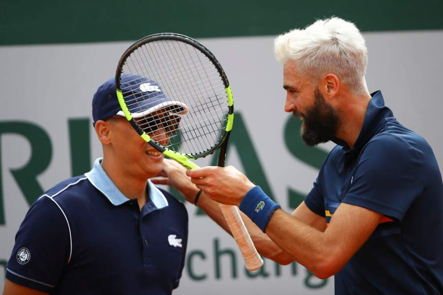 Benoit Paire lors de la Journee des Enfants à Roland Garros le 26 mai 2018