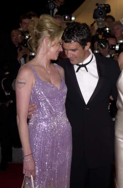 Mélanie Griffith et Antonio Banderas en 2002