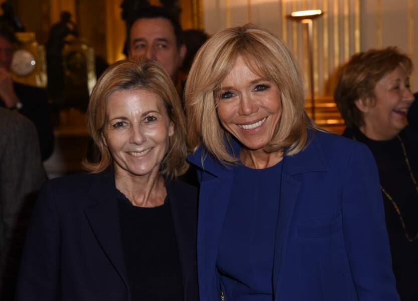 Brigitte Macron et Claire Chazal, très complices à Paris
