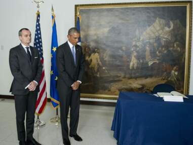 Barack Obama à l'ambassade de France