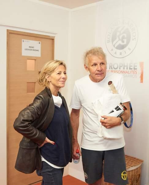 Claire Chazal et Patrick Poivre d'Arvor, retrouvailles dans les vestiaires de Roland Garros