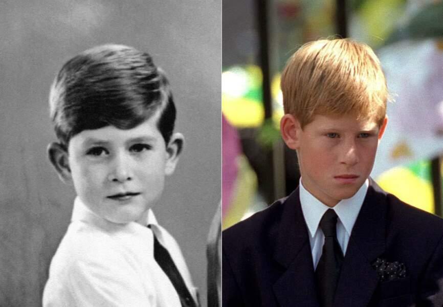 Moins évident aujourd'hui, le prince Harry tient beaucoup du prince Charles