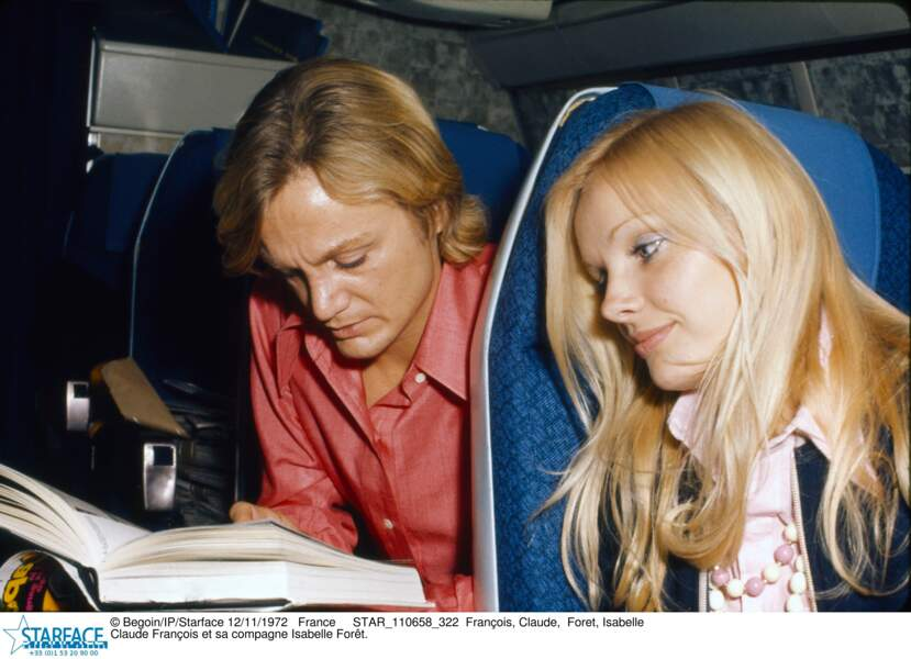 France Claude François et sa compagne Isabelle Forêt EN 1972