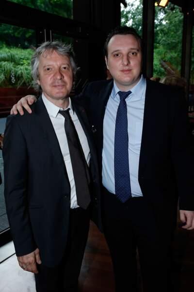 Thierry Rey et son fils Martin, au 10e anniversaire du Musée du Quai Branly, en 2016