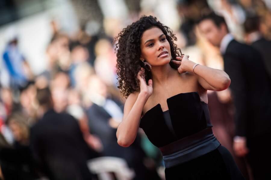 Tina Kunakey sur le tapis rouge du 72e Festival de Cannes, le 15 mai 2019