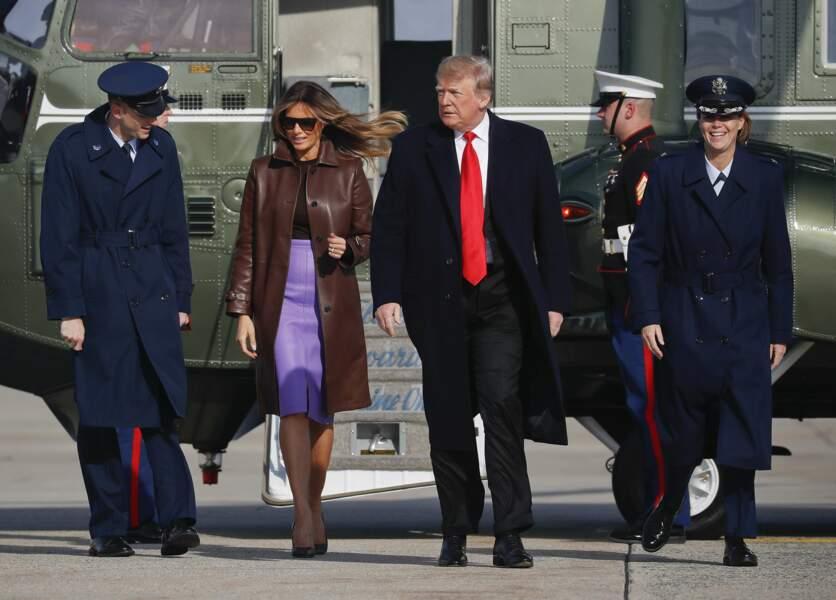 Melania Trump plus cuir que jamais !