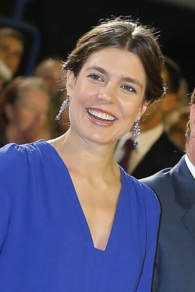 Charlotte Casiraghi enceinte de quelques mois, au jumping International de Monte-Carlo le 29 juin 2013, à Monaco.