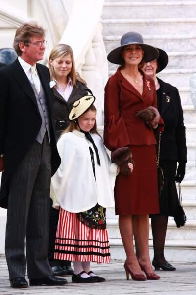 Ernst-August, Caroline et Alexandra de Hanovre lors de la fête nationale de Monaco, en 2007
