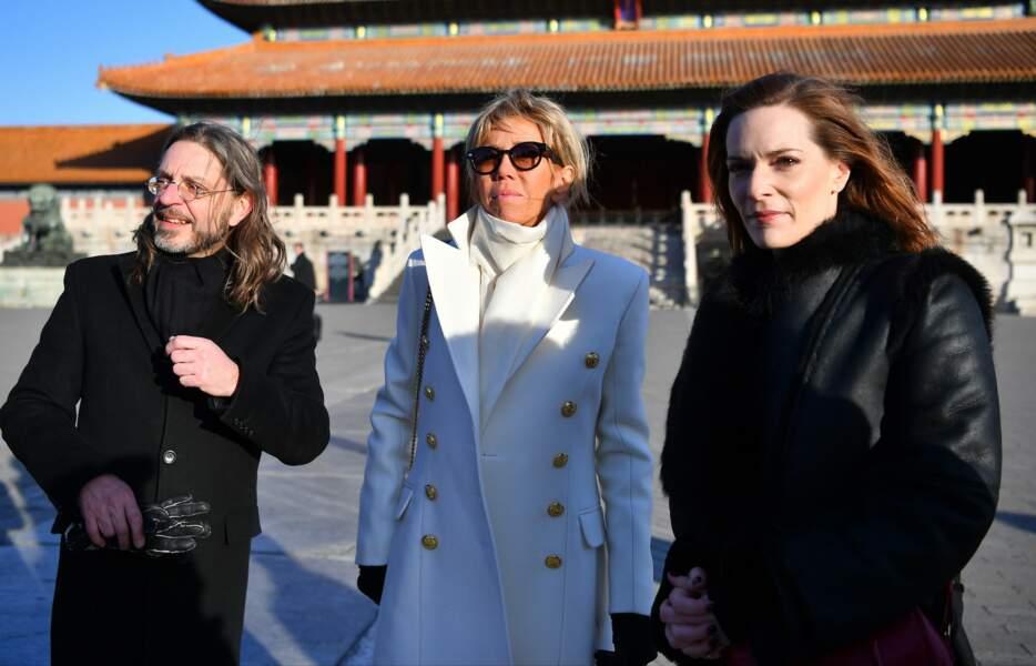 Le couple présidentiel visite la cité interdite, en Chine, le 9 janvier 2018