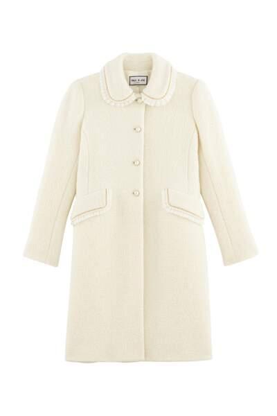 Vintage, manteau en tweed et col claudine, 685 € (Paul & Joe).