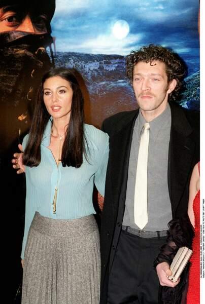 Monica Bellucci et Vincent Cassel à la première du Pacte des loups en 2001