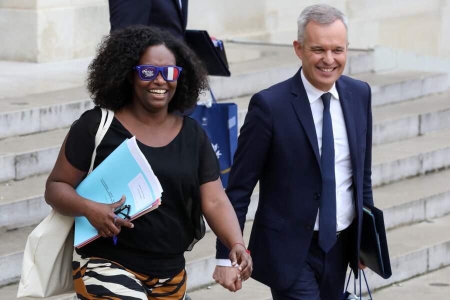 Sibeth Ndiaye affichait un large sourire à sa sortie du conseil des ministres ce lundi 3 juin