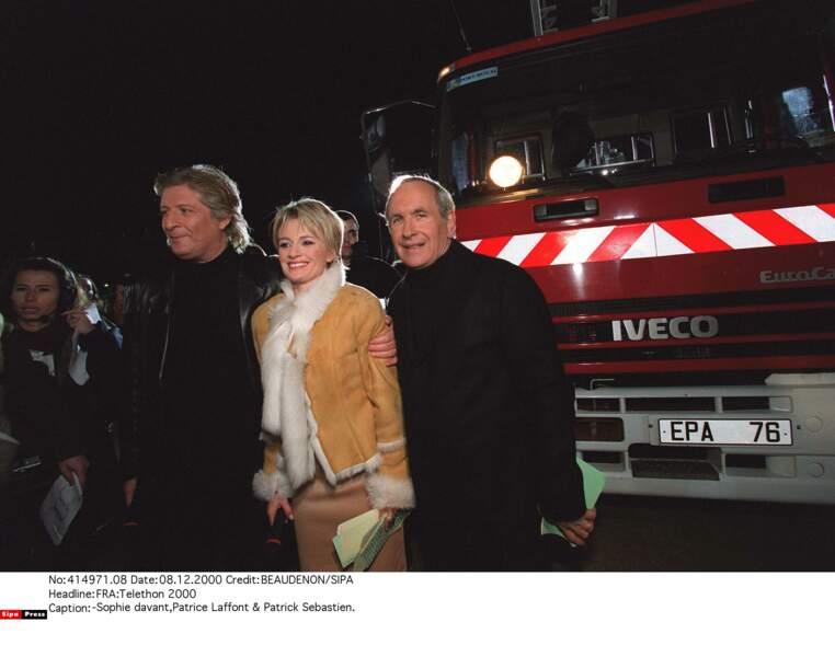 En 2000, avec Patrick Sébastien et Patrice Laffont
