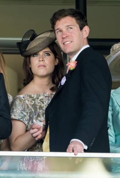 La princesse Eugenie d'York et son futur mari Jack Brooksbank à la course hippique Royal Ascot 2015