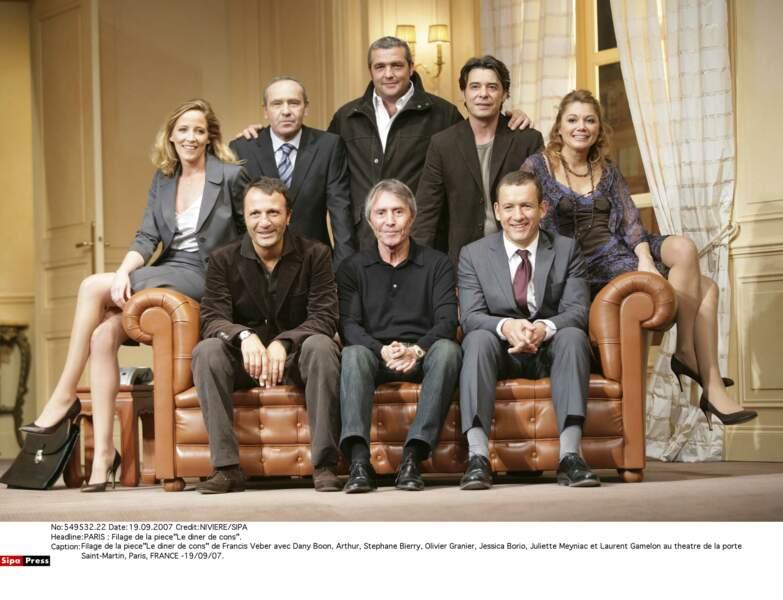 En 2007, avec l'équipe de la pièce Le dîner de cons