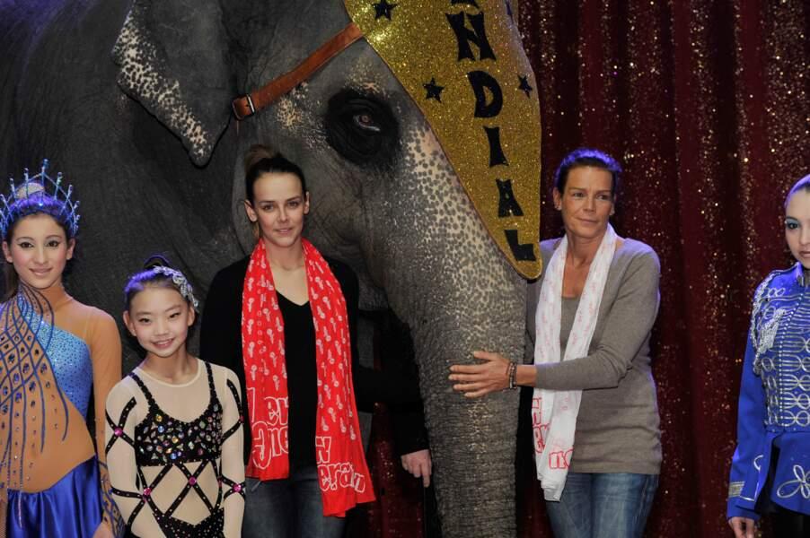 Stephanie et sa fille Pauline (présidente du jury) pour la 2ème édition du New Generation Circus Festival en 2013