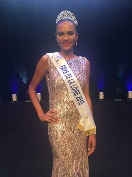 Diane Le Roux, 20 ans, a été sacrée Miss Pays-de-la-Loire et tentera de devenir Miss France 2019