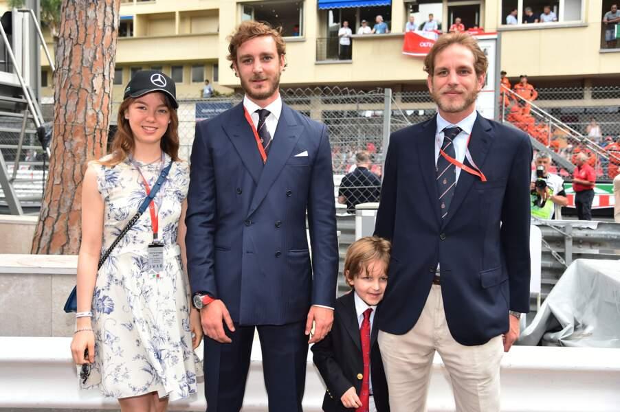 La princesse Alexandra de Hanovre, Pierre Casiraghi, Sacha, le fils d'Andréa Casiraghi