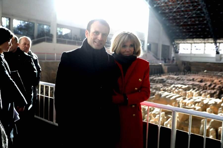 Brigitte et Emmanuel Macron en Chine, le 8 janvier 2018