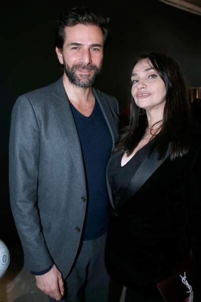 Gregory Fitoussi et Béatrice Dalle lors de la soirée Yves Saint Laurent
