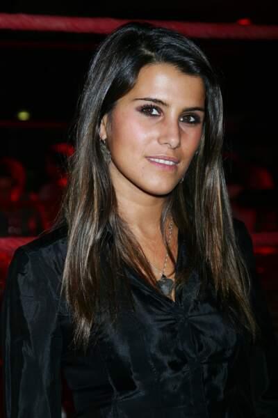 Karine Ferri à la conférence de presse de la chaîne TF6 à Paris, en 2008