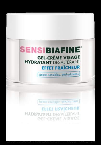 Gel-crème hydratant désaltérant effet fraîcheur, Sensibiafine, 15,90 €
