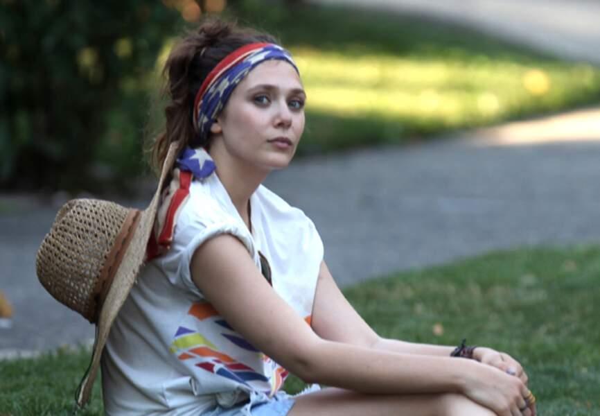 Elizabeth Olsen, patriotique chic